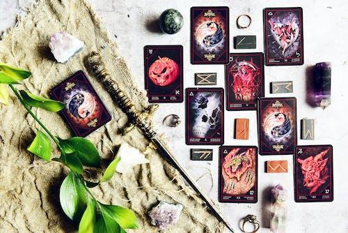 Close-Up Shot of Tarot Cards