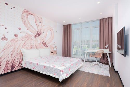 Roupa De Cama Floral Branca E Rosa