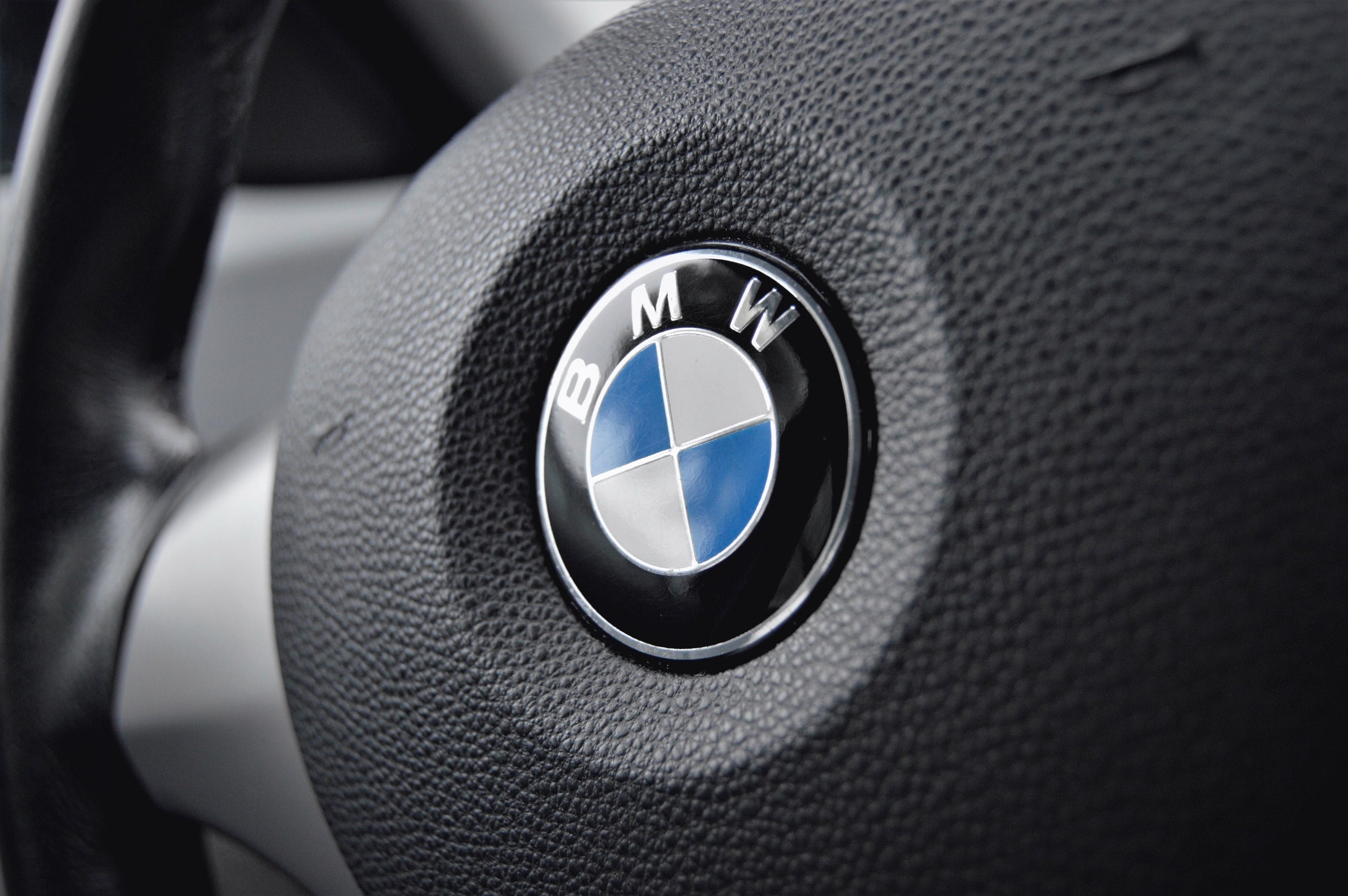 Black and Gray Bmw Steering Wheel