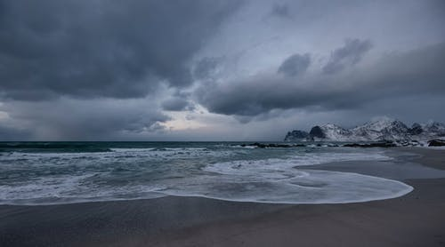 Free stock photo of arctic landscape, autumn, beach, beach waves