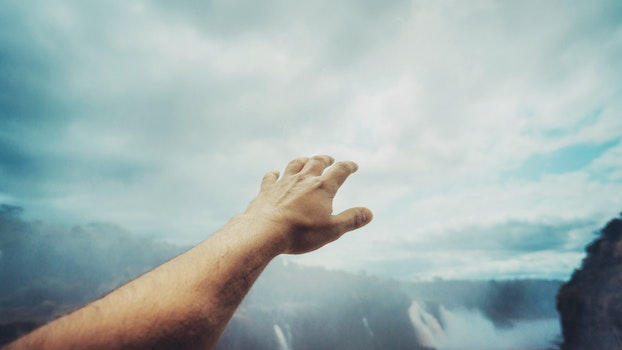 Free stock photo of sky, man, person, hand