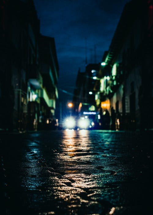 Free stock photo of blue light, calles, city street