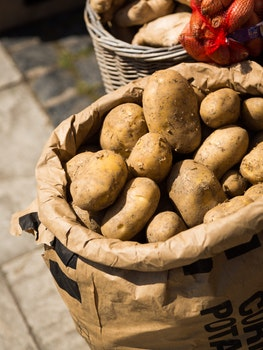 Free stock photo of food, vegetables, potatoes, sack