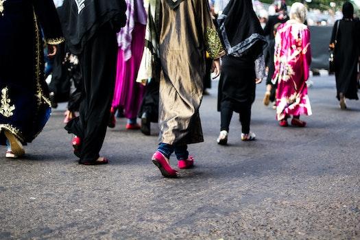 Free stock photo of woman, street, islam