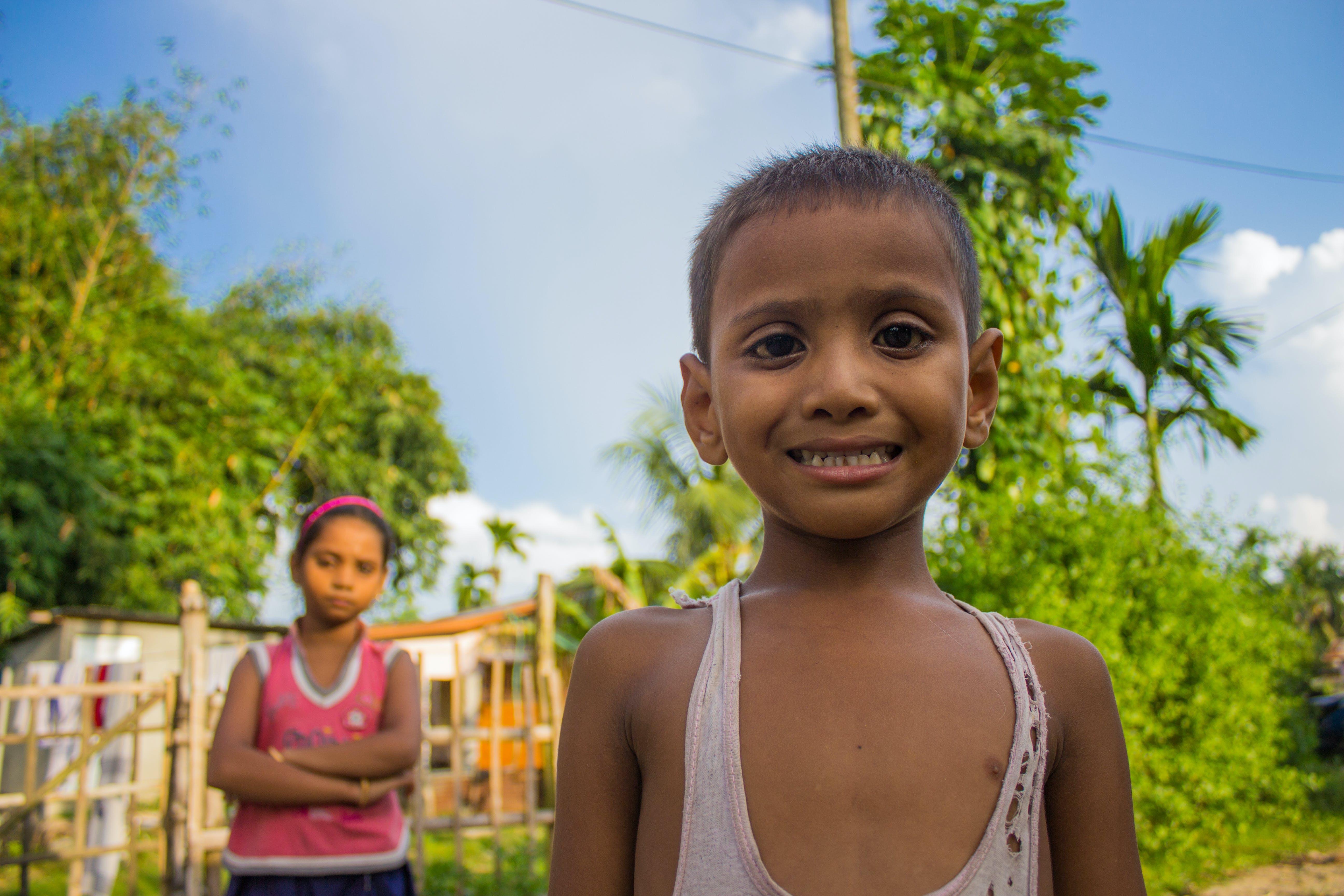 Free stock photo of boy, indian, poverty, smile
