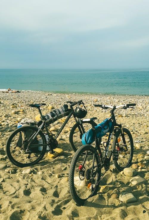 Free stock photo of beach, bicycle, bike, biker