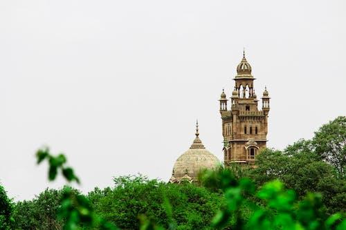 Darmowe zdjęcie z galerii z kamień, kopuła, minarates, pałac laxmi vilas