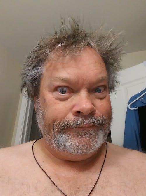 Free stock photo of Crazy Man, funny face, Mug Shot