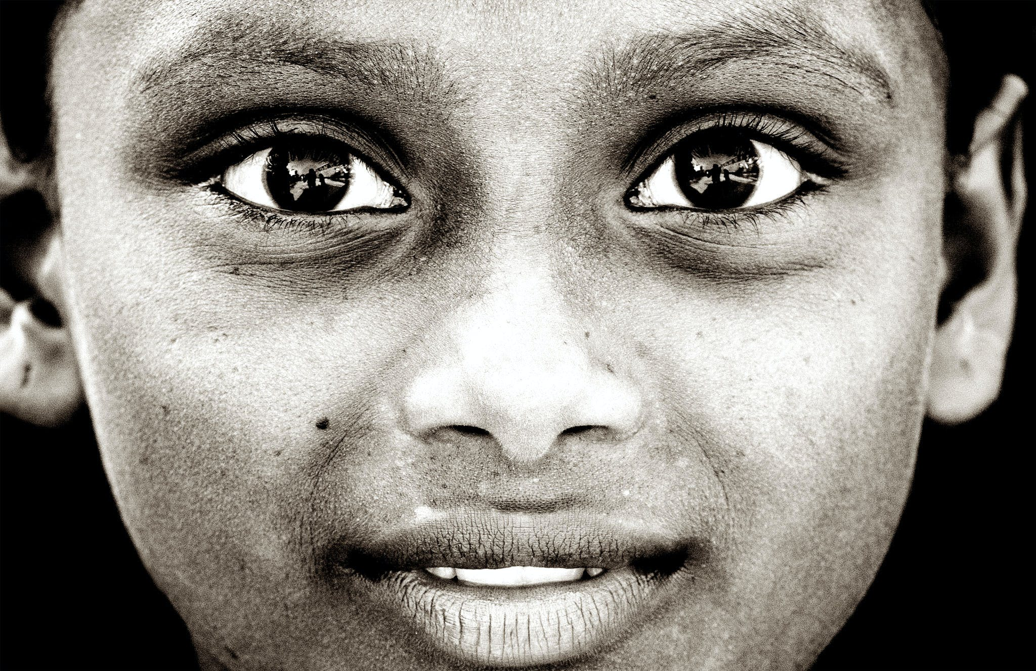 Close View of Child's Face