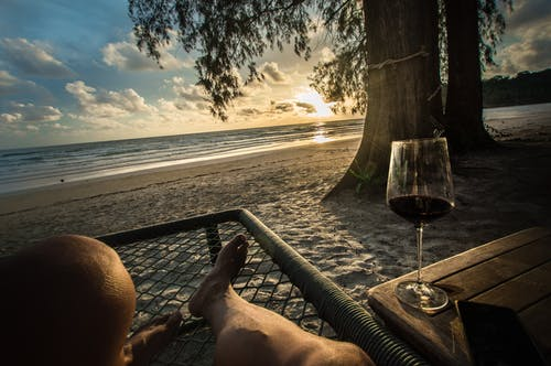 Free stock photo of beach, chill, sunset, wine