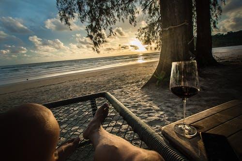 Free stock photo of beach, chill, sunset