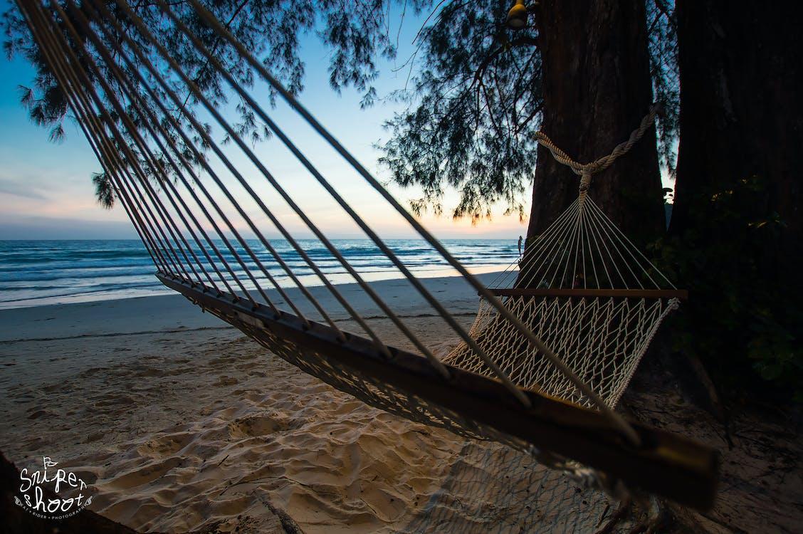 Darmowe zdjęcie z galerii z hamaki, odpoczynek, plaża
