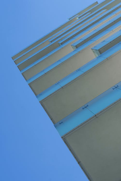 Free stock photo of architecture, balconies, blue skies