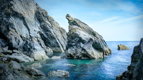 Photos gratuites de bleu, bloc, bord de la mer