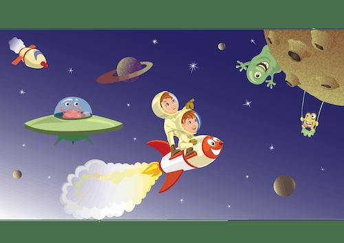 Free stock photo of aerospace, illustration, kids, rocket