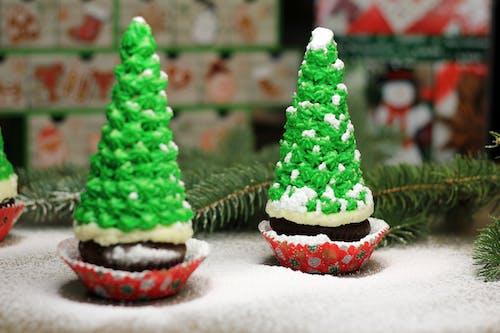 Free stock photo of chocolate cupcakes, christmas, home made