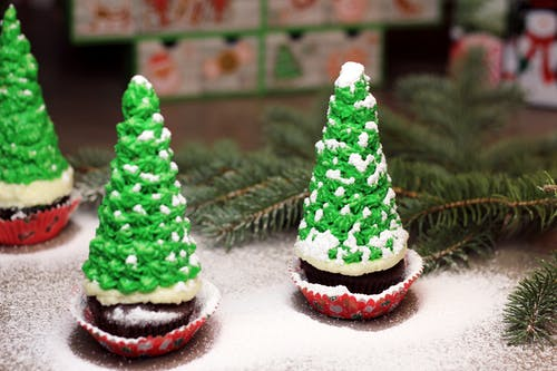 Free stock photo of chocolate cupcakes, christmas, christmas cookies