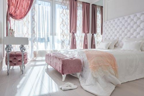 Interior of light elegant bedroom