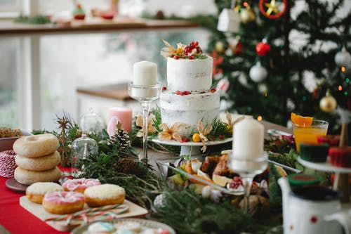 Delicious Christmas food and desserts at home