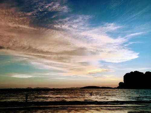 Free stock photo of beach, blue sky, dramatic sky, ocean