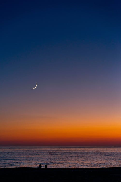 Crescent Moon over the Sea