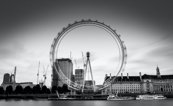 Free stock photo of black-and-white, sky, landmark, water