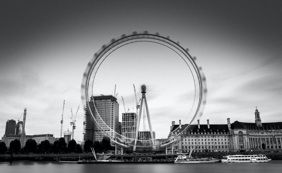 New free stock photo of black-and-white, sky, landmark