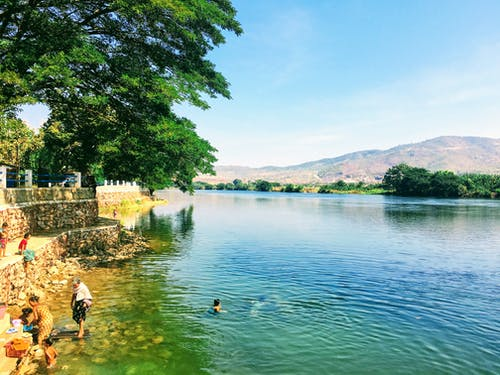 Free stock photo of bath, burma, riverside