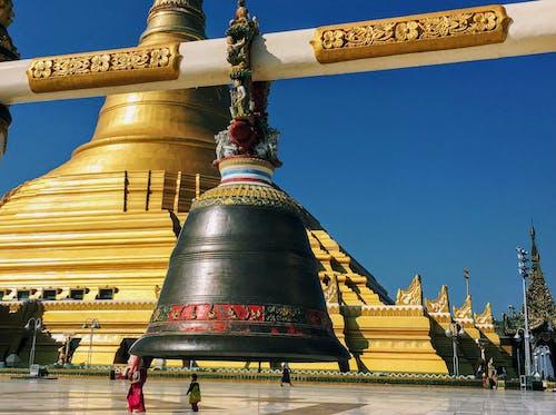 Free stock photo of bell, buddhism, burma