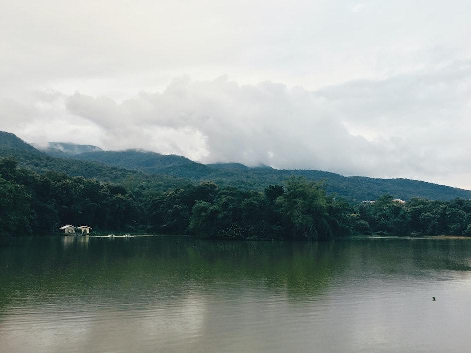 calm waters, clouds, dawn