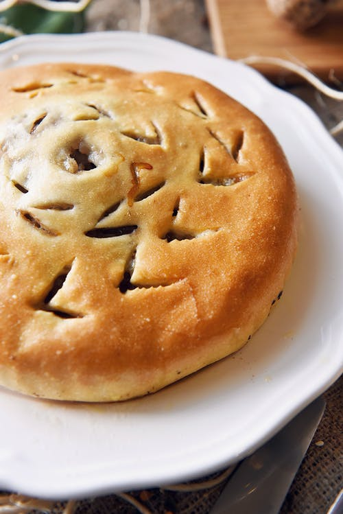 Close-Up Photo of a Pie on Plate