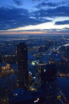 Free stock photo of city, sky, lights, skyline