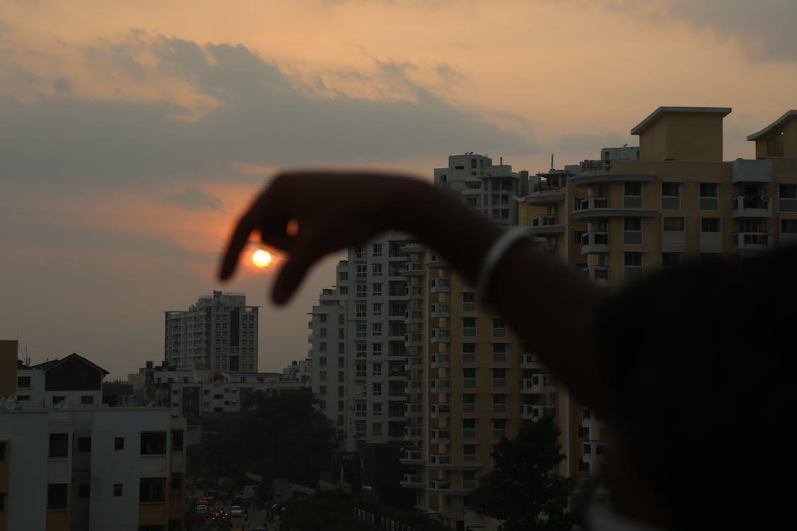 večerné slnko