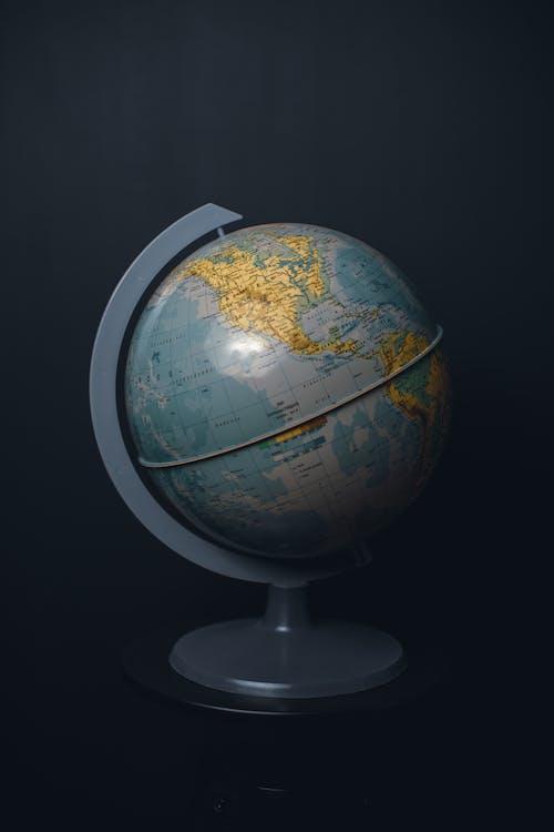 Blue and White Desk Globe