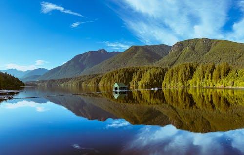 Gratis lagerfoto af blå sø, dæmning, grønne bjerge