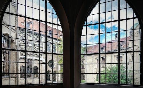 açık, bakış açısı, bardak, bina içeren Ücretsiz stok fotoğraf