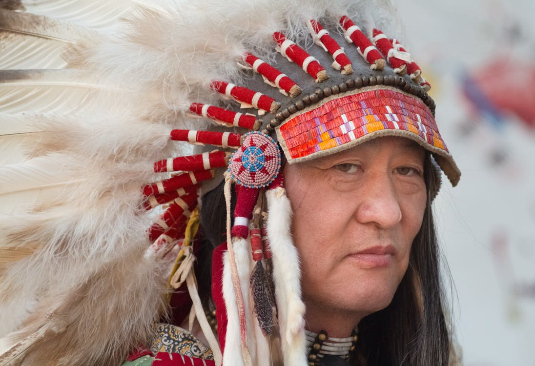 Man in Feather Headdress
