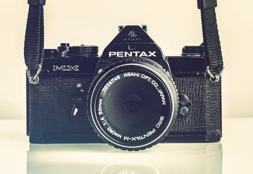 Close-up Photo of Pentax Single-lens Reflex Camera