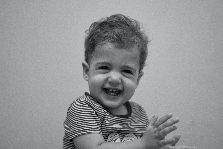 Free stock photo of baby black and white child