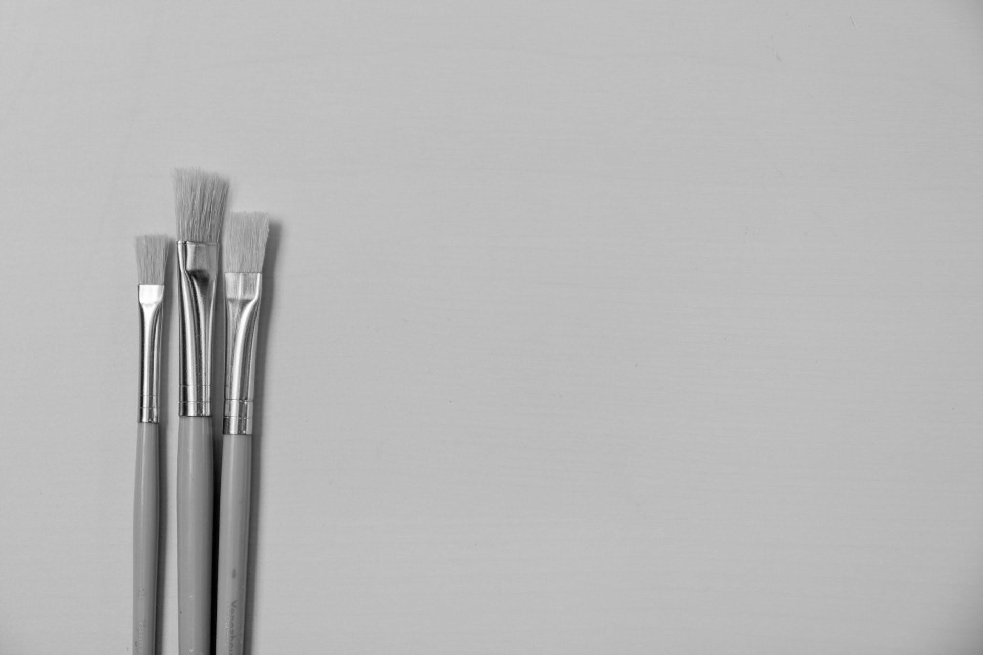 Free stock photo of black and white, designer, paint, paint brush