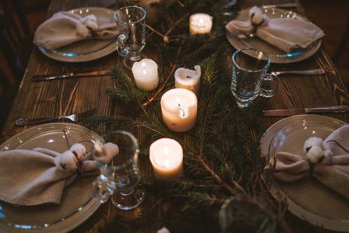A Close-Up Shot of a Table Setting