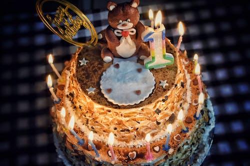 Free stock photo of add text cake, birthday cake, blank birthday cake, cake with candles