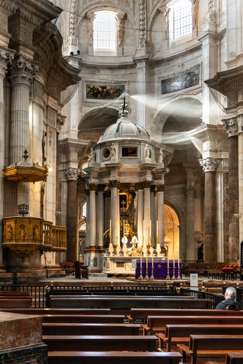 Free stock photo of altar, candlelight, candles, cathedral