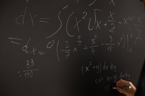 Equations Written On Blackboard