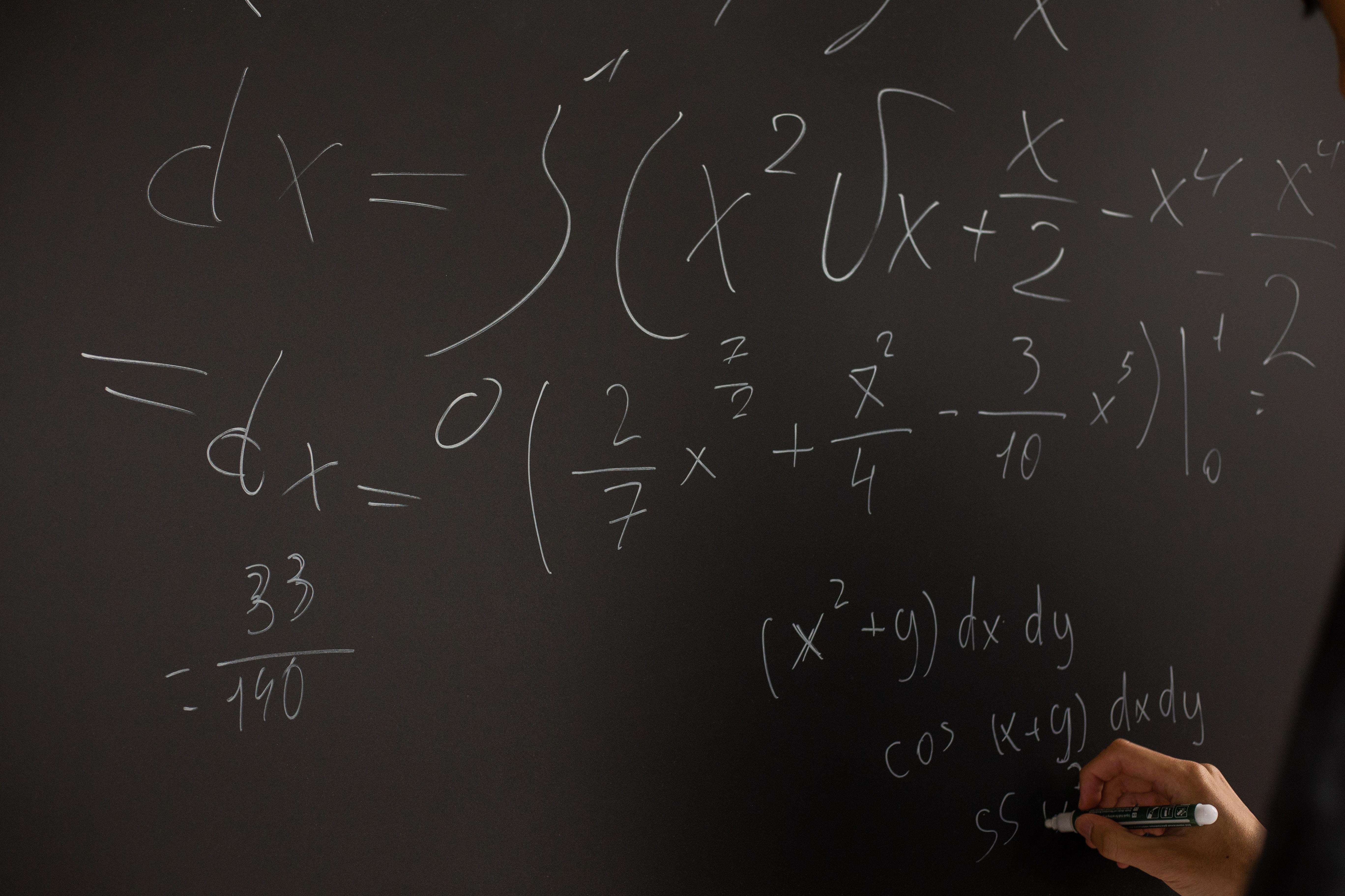 Equations Written On Blackboard · Free Stock Photo