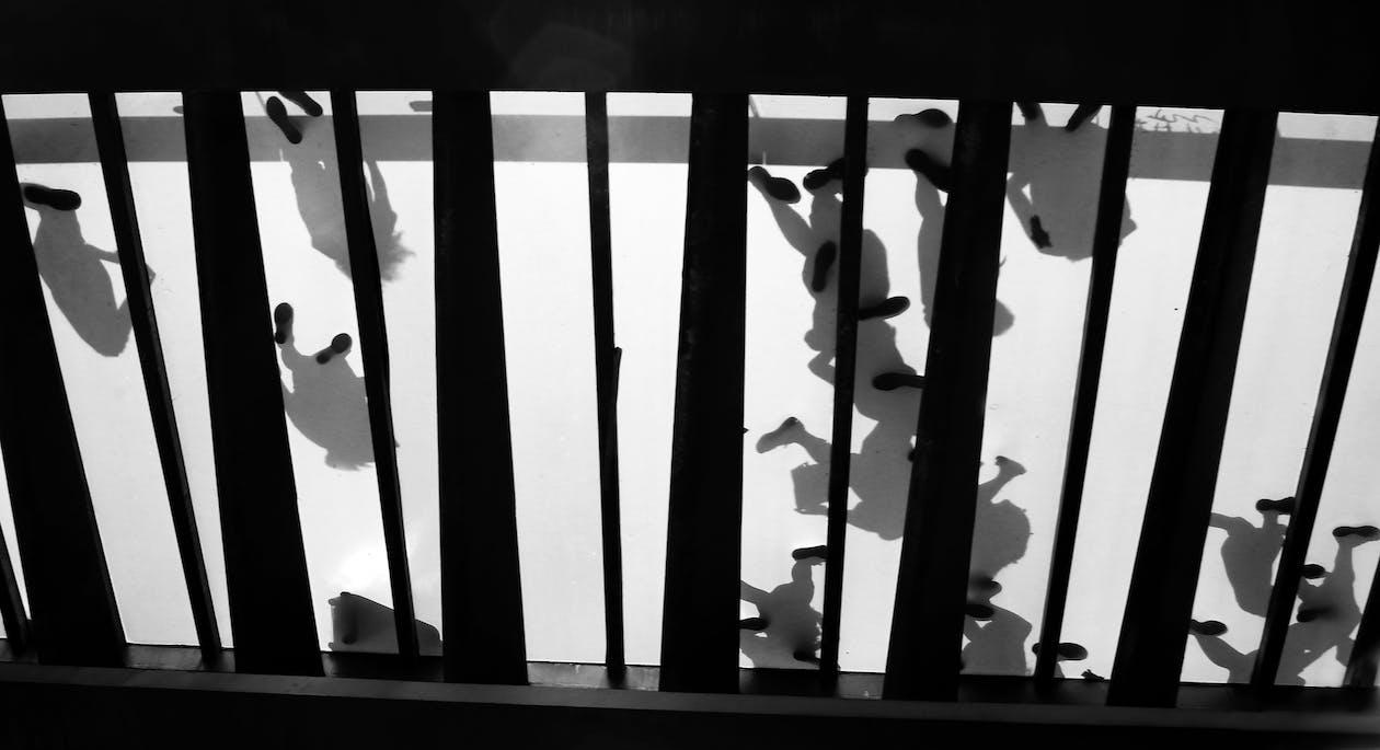 Free stock photo of bridge, feet, glass bridge