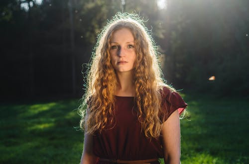 Free stock photo of beautiful, dress, evening sun, eyes