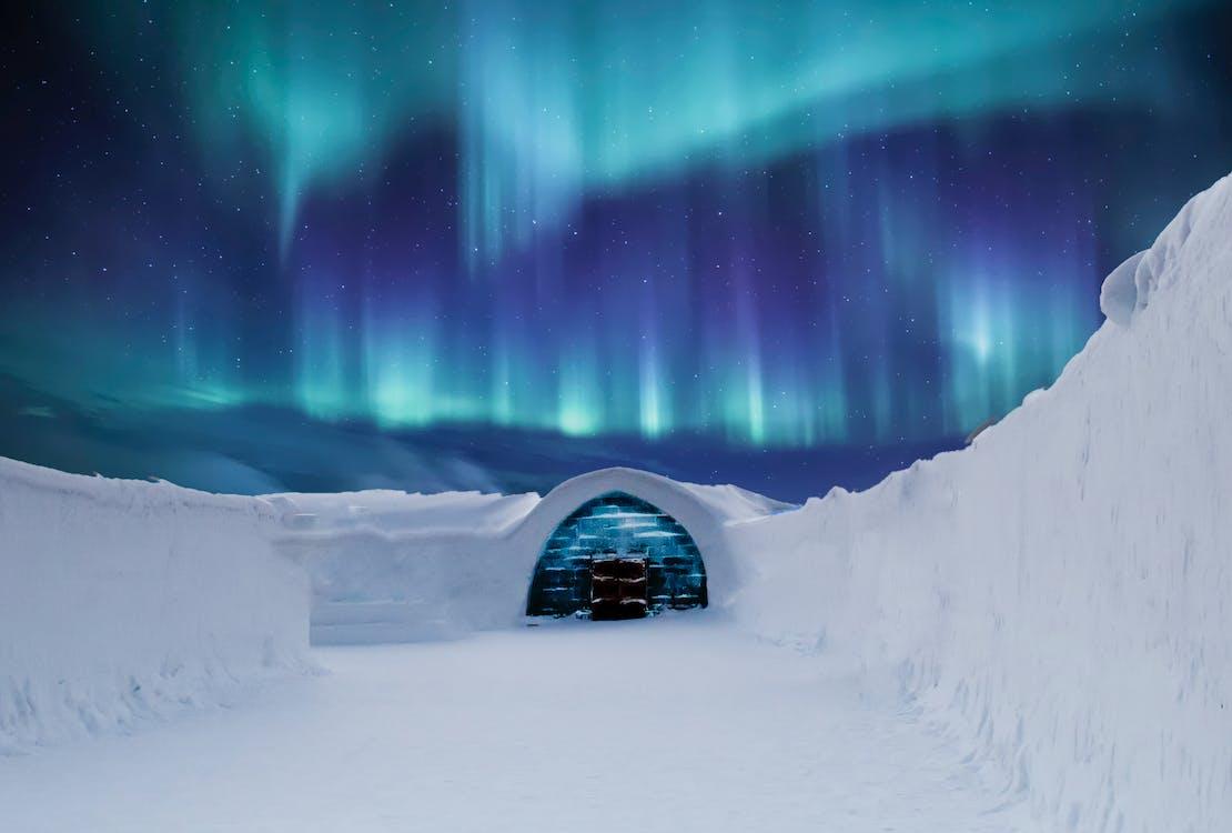 beleuchtung, berg, einfrieren