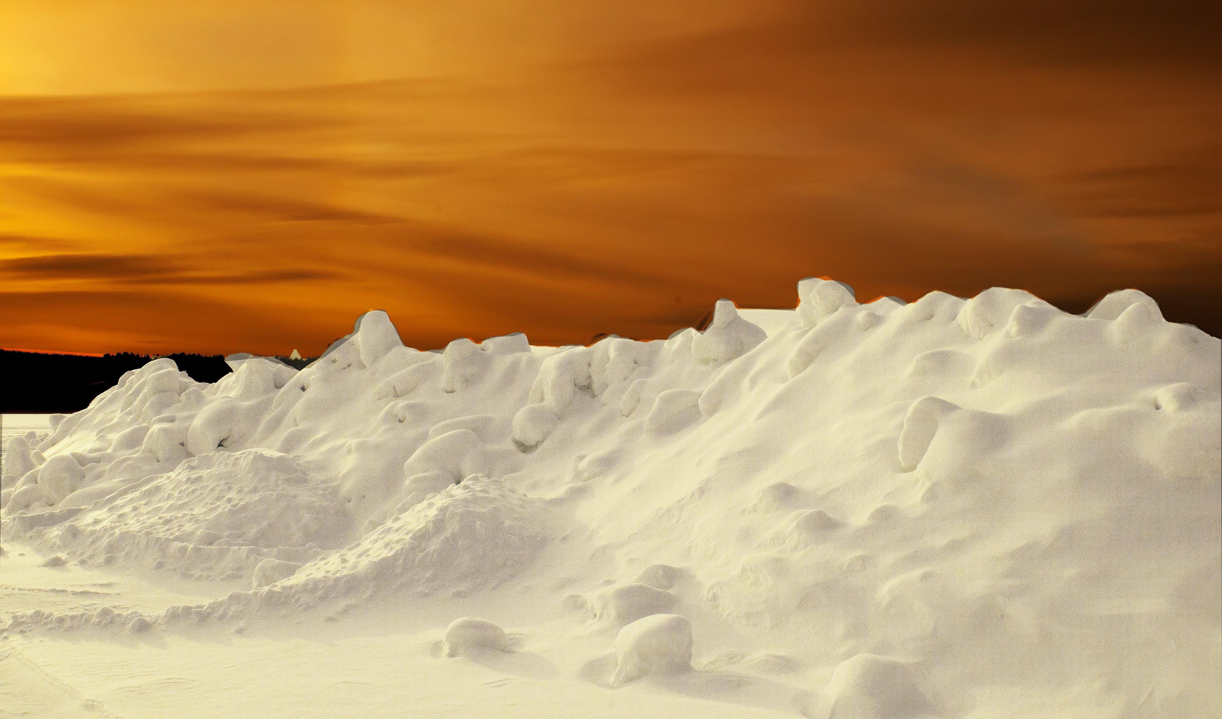 Gratis lagerfoto af forkølelse, himmel, is, morgengry