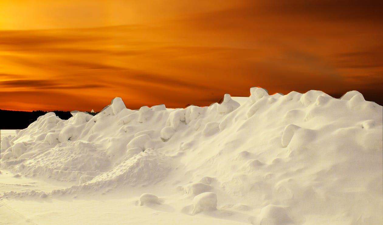 восход, закат, зима